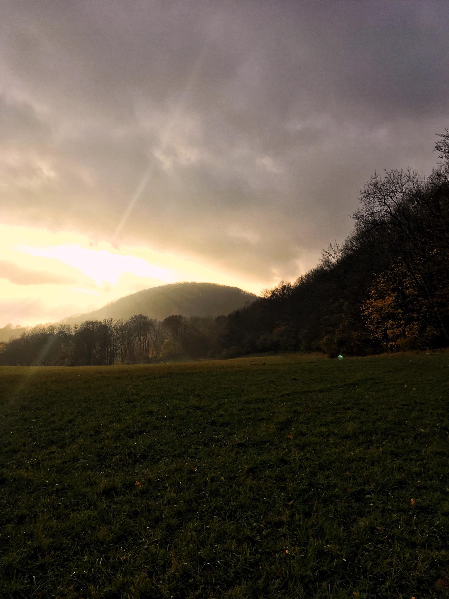Landschaftsaufnahme Sonnenuntergang